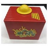 Jack in the bank, vintage plastic bank, home