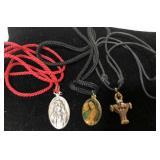3 religious necklaces