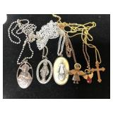 Lot of religious necklaces