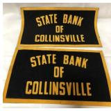 2 State Bank of Collinsville patches 10x6