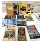 Vintage books, manuals and a pic of a ship