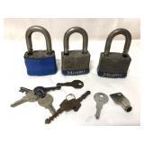 3 #5 Master Locks and a lot of keys