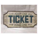 20x10 wood ticket sign