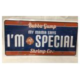 SEALED Bubba Gump license plate