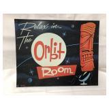 Metal Orbit Room sign 15x12