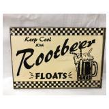 Metal root beer sign 11x8