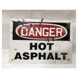 Fiberglass Danger sign 10x7