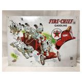 Metal Texaco Fire Chief sign 16x12