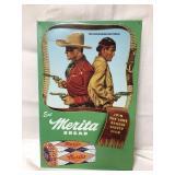 Metal Merita Bread Lone Ranger sign 19x12