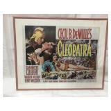 Framed 20x16 Cleopatra movie poster