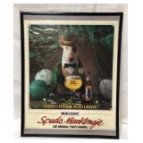Framed 1987 Bud Light Spuds Mackenzie poster