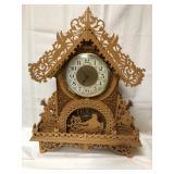 Beautiful Indian and Deer clock-has a couple