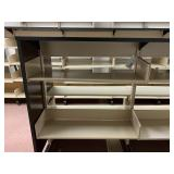 Fully Disassembled Metal Shelving units