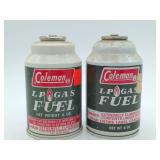 (2) Full Coleman LP Gas Fuel Cartridges