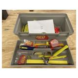 Red Toolbox and Contents - Cordless Drill (no