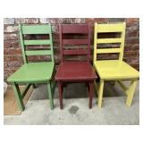 (3) Wooden Kids Chairs