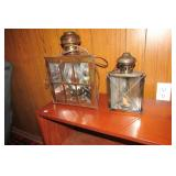 Pair of Electric lantern style lamps