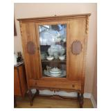 "China Cabinet with  pediment 66.5"" H x W 40"" x."