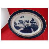 "Real Old Willow platter 14"" x 11"""