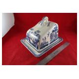 Imperial ware: Blue Willow Cheese dish
