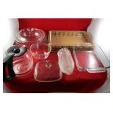 Glass Cookware: Pyrex, Sunbean Coffee Carafe,