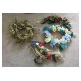 Home Decor: Wreath, floral wall pieces