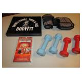 Weights, Simmons VHS tape, Body Fil