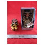 Pair of Indigenous dolls-Cathay collection porcel