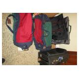 Travel bags, 2 duffel bags on wheels,