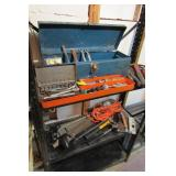 Tool Assortment with box; hammers, chisels