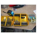 Dewalt 18 pc. drill bit set, and Dewalt 6 pc nut