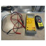 Fluke 22 multi meter  ., Stanley stud finder,