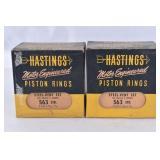 2 Boxes Hastings Piston Rings Steel Vent Set 563