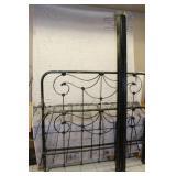 Vintage Black bed frame with side rails
