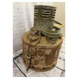 Vintage rusty heater