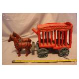 Cast horses and wagon
