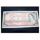 1954 Canadiann $2 bank note