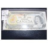 1973 Uncirculated Canadian $1 bank note
