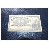 1900 25 cent Canadian Bank note