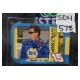 Michael Waltrip autographed card .