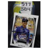 Kurt Busch Autographed card