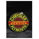Chrysler Plymouth service sign .