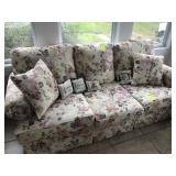 Floral Sofa and Love Seat