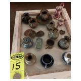 15 Pc Seagrove Minature Pottery, Latham & Other