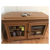 TV Cabinet w/ DVD & VCR Player, Lots of CD