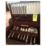 Community Flat Ware in Wood Box, Silver Plated