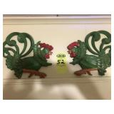 Ceramic Rooster Wall Hanger
