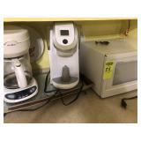 Emerson Microwave, Keurig Coffee Maker,