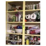 4 Shelves of Miscellaneous Kitchen Items