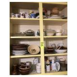 4 Shelves of Dishes and Miscellaneous
